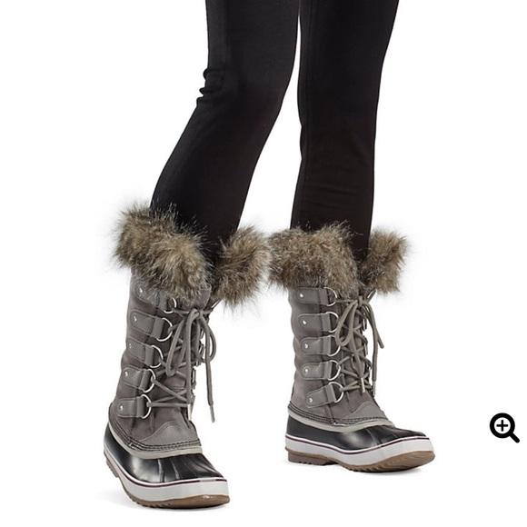 Nwob Sorel Joan Of Arctic Boots Grey
